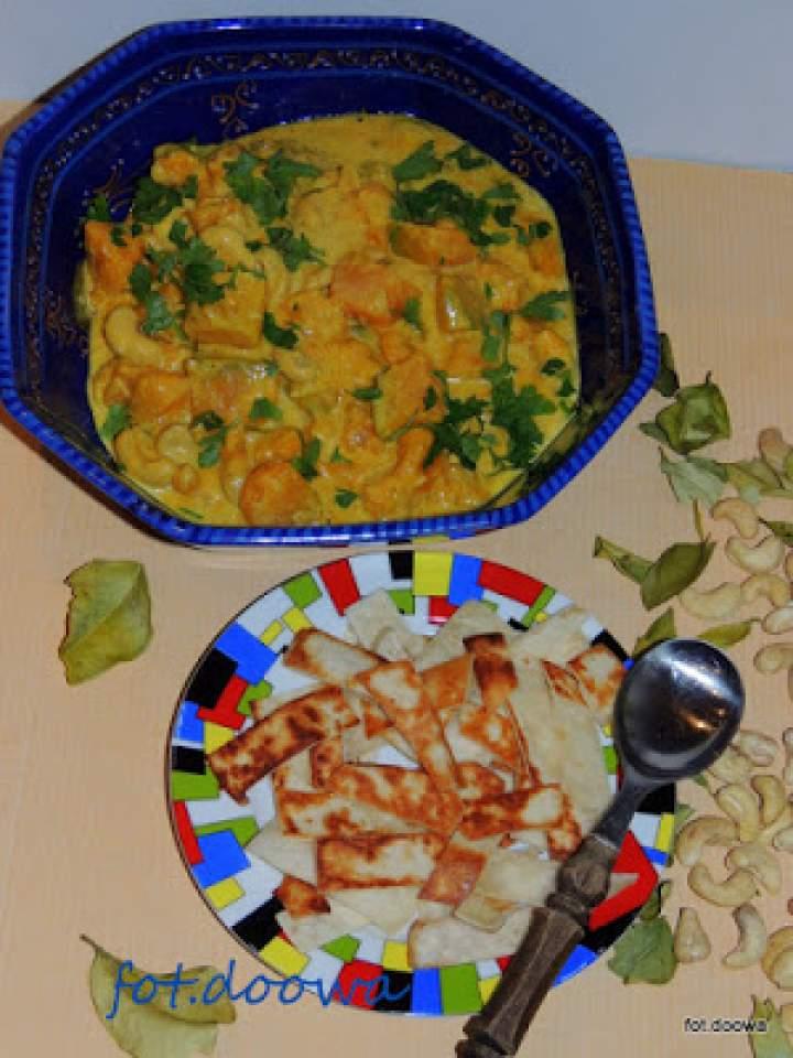 Curry z dyni i nerkowców ze Sri Lanki