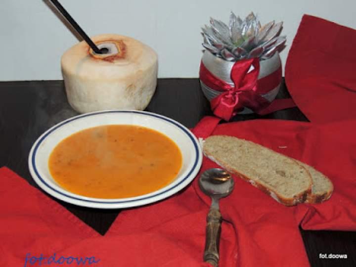 Waniliowa zupa krem z dyni na ostro
