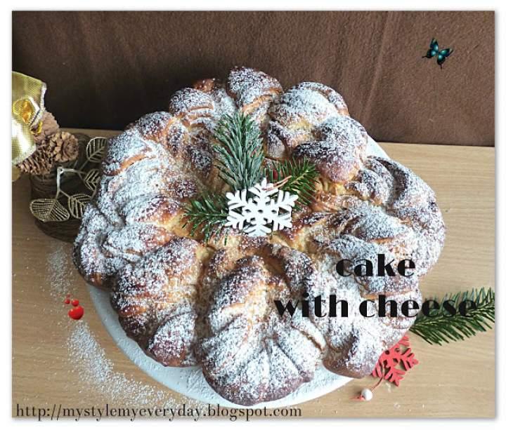 Serowa gwiazda na Święto Trzech Króli – The yeast cake with cheese