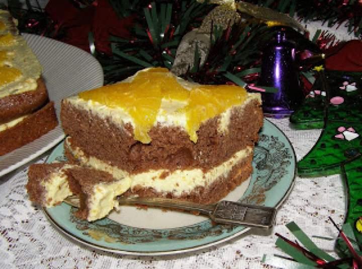 piernikowe ciasto z kremem z serka homogenizowanego…