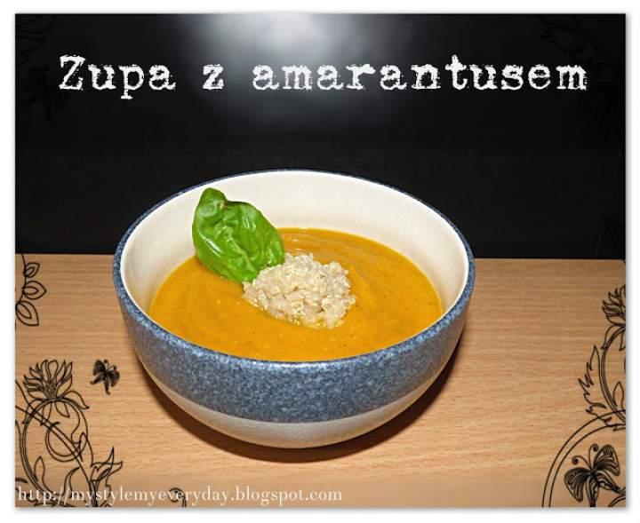 Zimowa zupa z amarantusem – Vegetable soup & amaranth