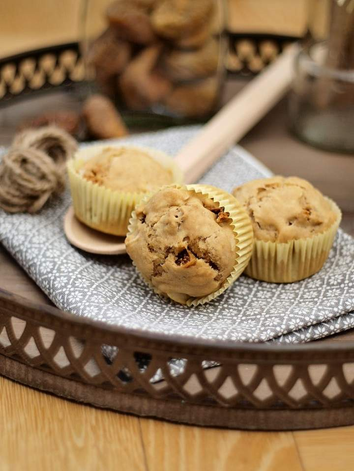 Muffinki z figami i migdałami (vegan)