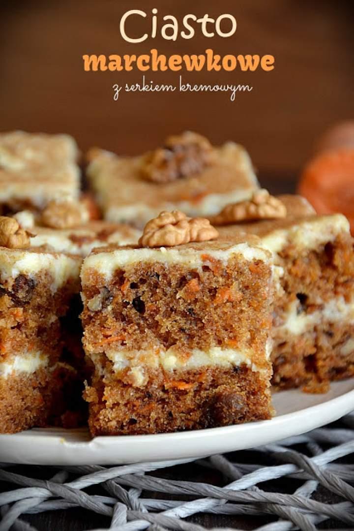 Ciasto marchewkowe z serkiem kremowy