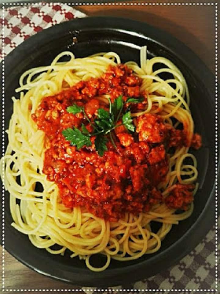 Spaghetti z pieczonych pomidorów i czosnku
