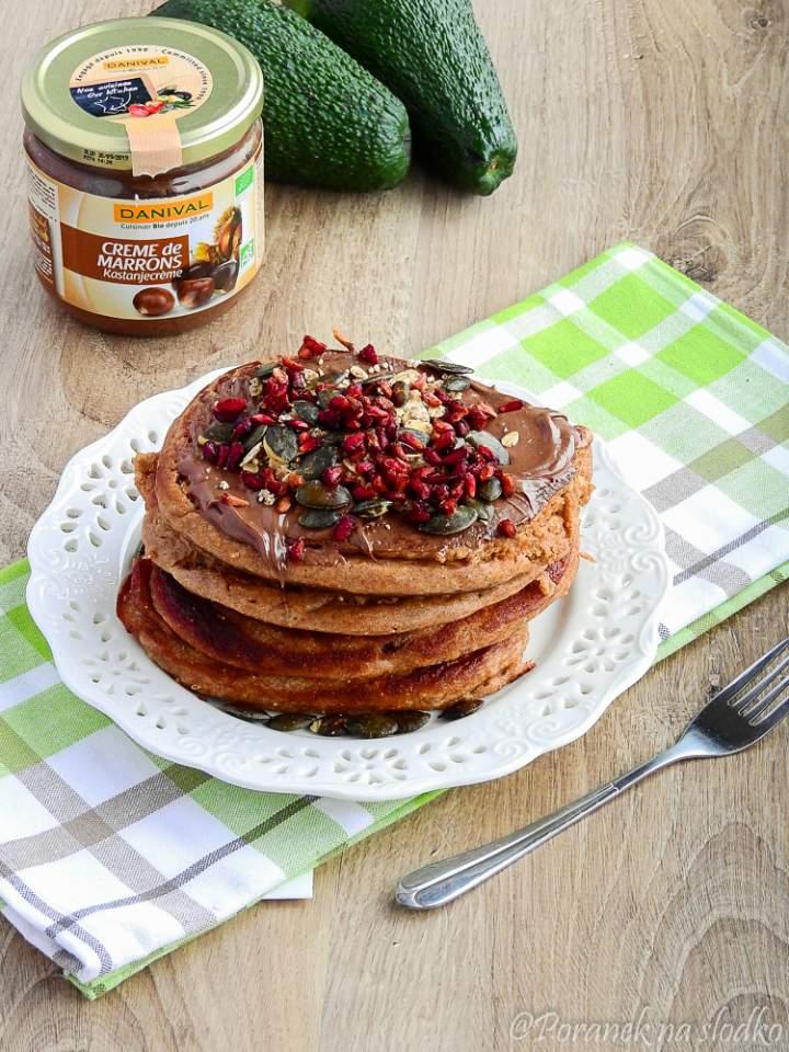 Kasztanowe pancakes z czekoladą