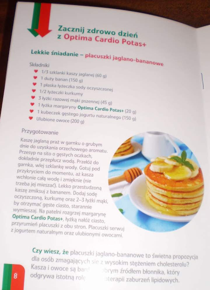 Placuszki jaglano – bananowe z Optima Cardio Potas +
