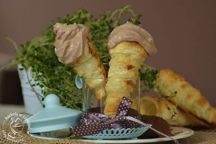 Lody włoskie czekoladowo- tymiankowe
