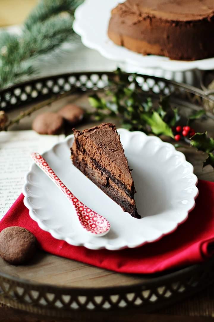 Tort truflowy (mocno czekoladowy)