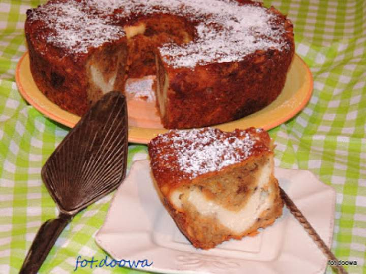Ciasto marchewkowe nadziane serem
