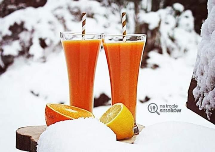 marchew + pomarańcza + cytryna + mandarynka + imbir