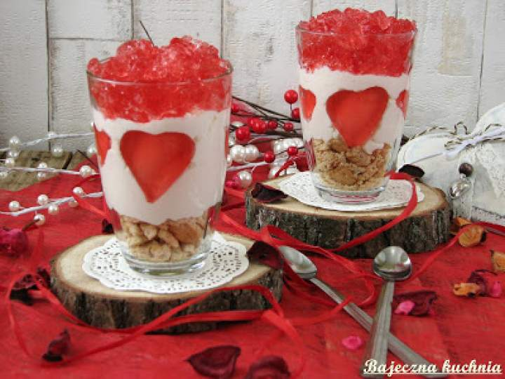 Walentynkowe desery sernikowe