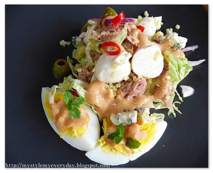 Sałatka z jaglanką i kapustą pekińską w roli głównej – Salad with millet groats