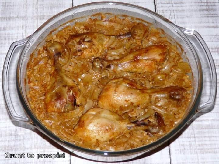 Kurczak zapiekany na brązowym ryżu