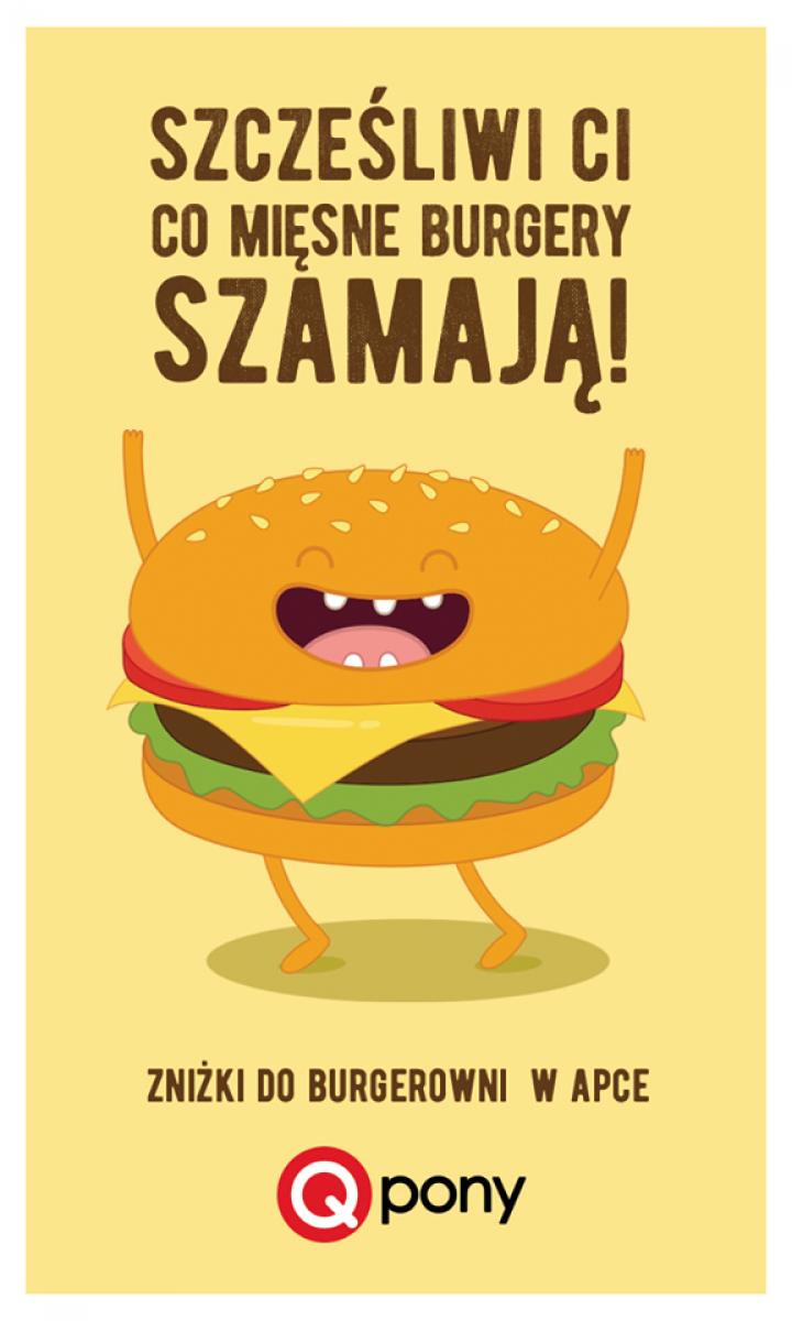 Zniżki do  śląskich Burgerowni w aplikacjji Qpony