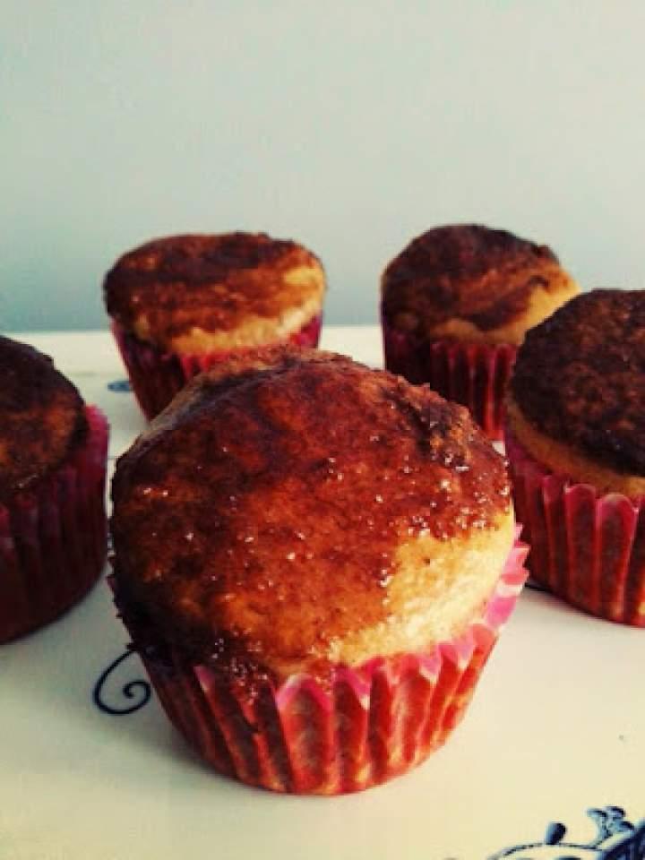 Zimowe muffinki z Nutellą