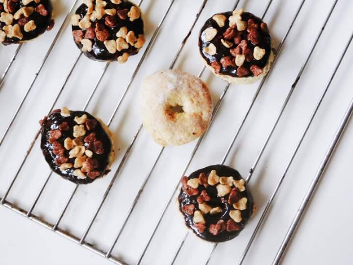 Mini donaty owsiane z piekarnika