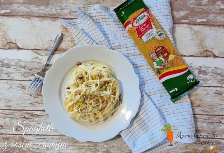 Spaghetti z sosem serowym gotowe w 15 minut!