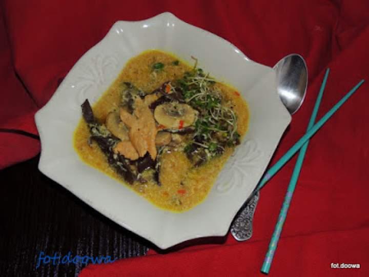 Zupa chińska kwaśno – ostra z kurczakiem