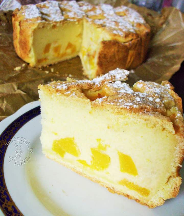 Ciasto Z Kaszy Manny Z Brzoskwiniami