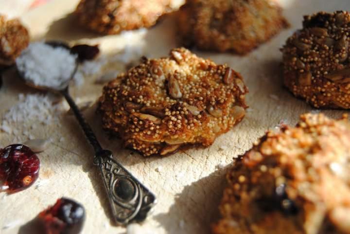 Ciasteczka amarantusowe (bezglutenowe, bez cukru, bez mleka)