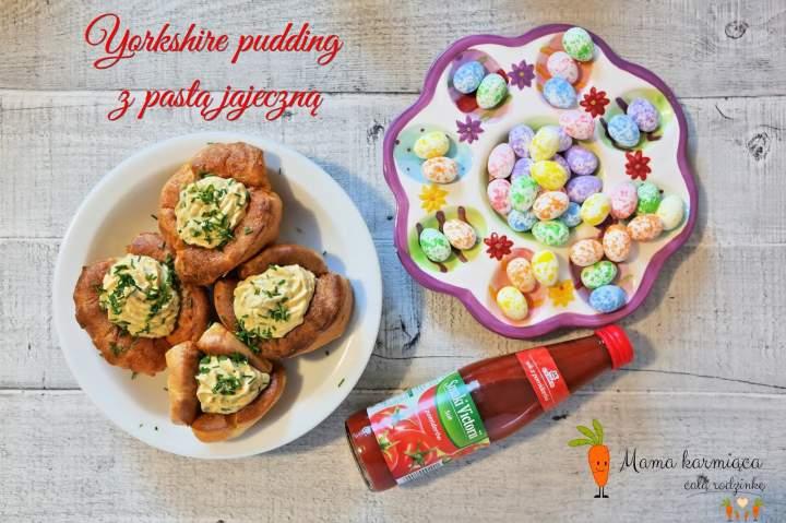 Yorkshire pudding z pastą jajeczną
