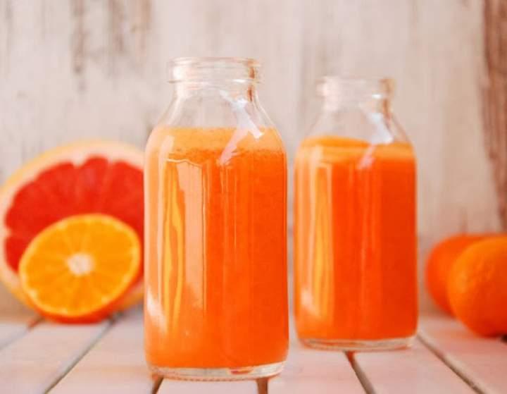 grejpfrut + mandarynka + marchew + imbir