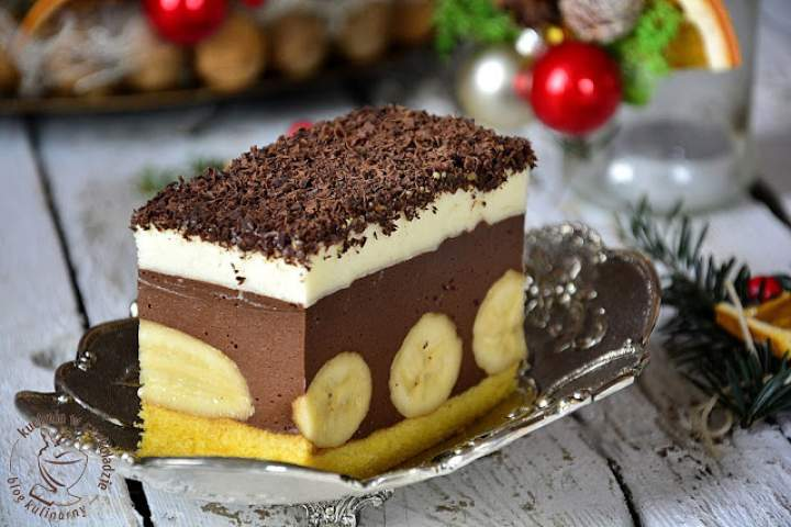 Ciasto czekoladowo- bananowe