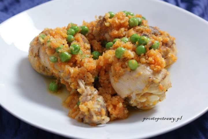 Kurczak z zielonym groszkiem