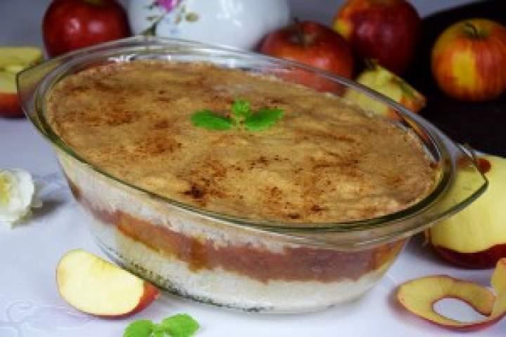 Zapiekany ryż zjabłkami + cynamonowe nadzienie