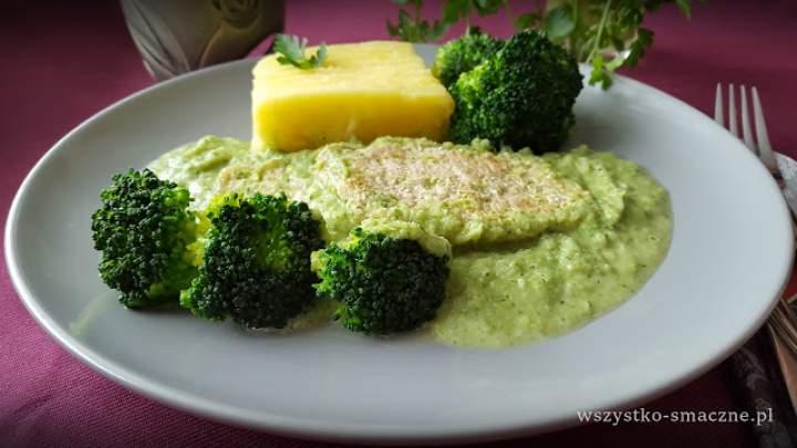 Schab w sosie brokułowym