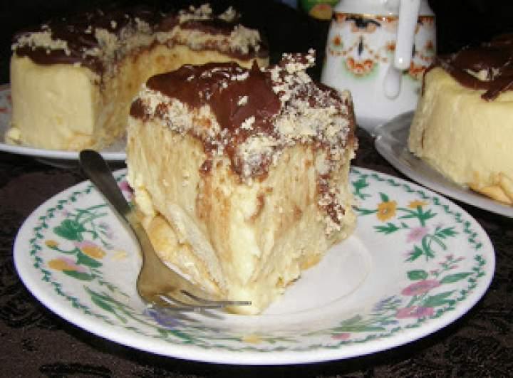 z marcepanową kruszonką gotowany sernik na mleku zagęszczonym…