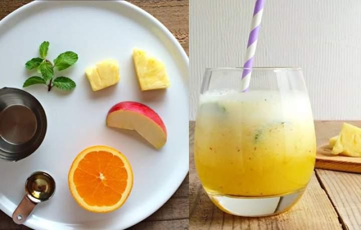 ananas + pomarańcza + jabłko + miód