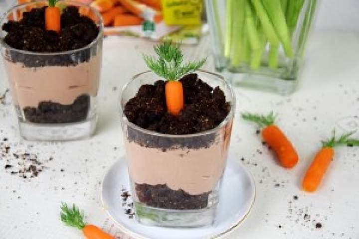 Czekoladowy deser zmini marchewkami Hortex – prosto zkrzaczka wykopany!