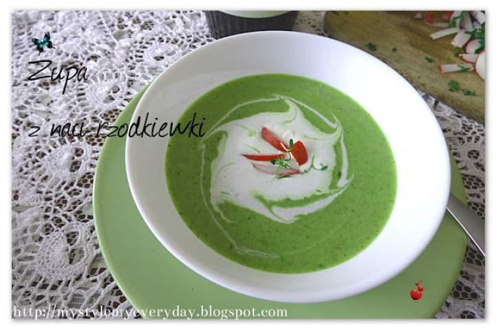Zielona zupa z naci rzodkiewki i Food show w Katowicach
