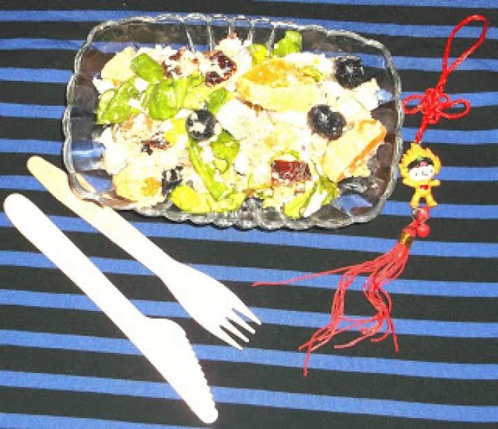 Sałatka tofu-mandarynka-grecka