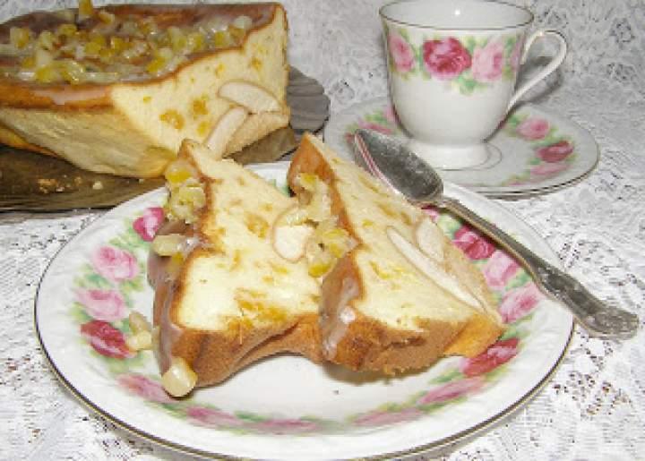 pyszny pieczony sernik z suszonymi morelami na biszkoptach…