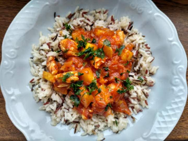Słodkie risotto z kurczakiem