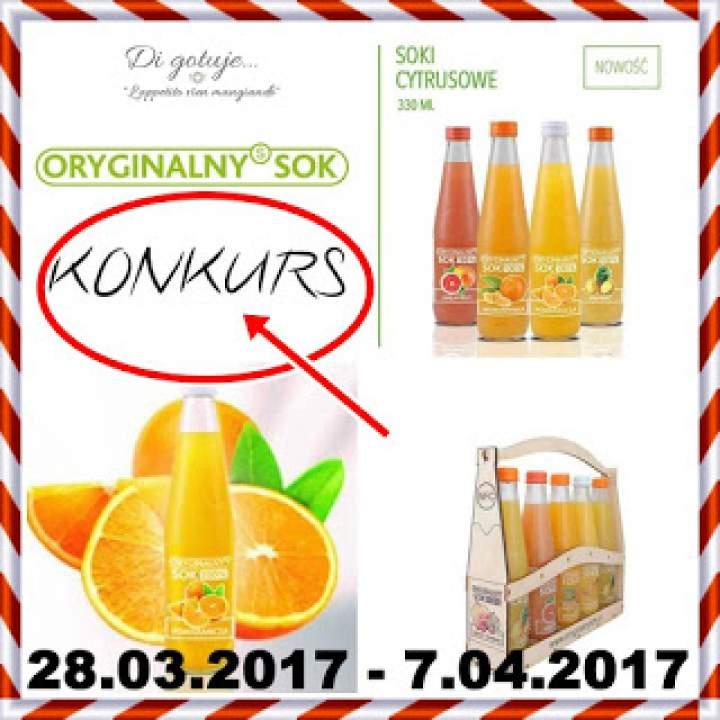 KONKURS – Di gotuje & Oryginalnysok – do wygrania zestaw soków i gadżety niespodzianki
