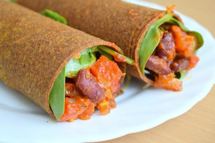 Tortilla z przepysznym farszem warzywnym – wege i bez glutenu :)