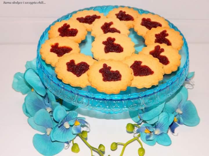 Ciasteczka z marmoladowym zajączkiem.