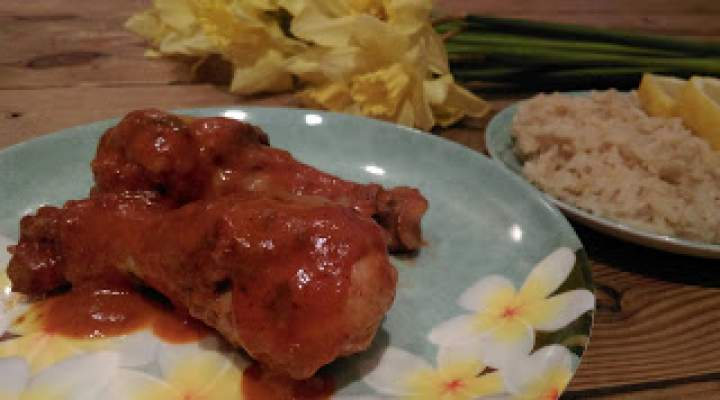Podudzia z kurczaka w aksamitnym sosie