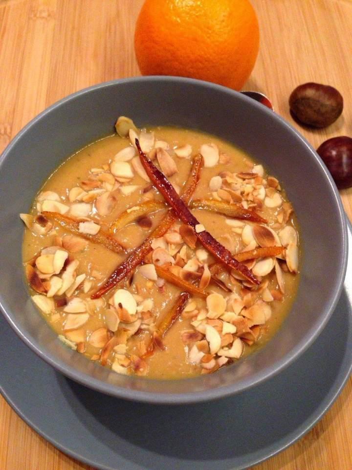 Zupa krem z kasztanów i pieczonej dyni