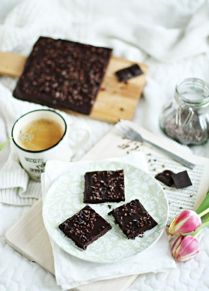 Mazurek (bardzo) czekoladowy