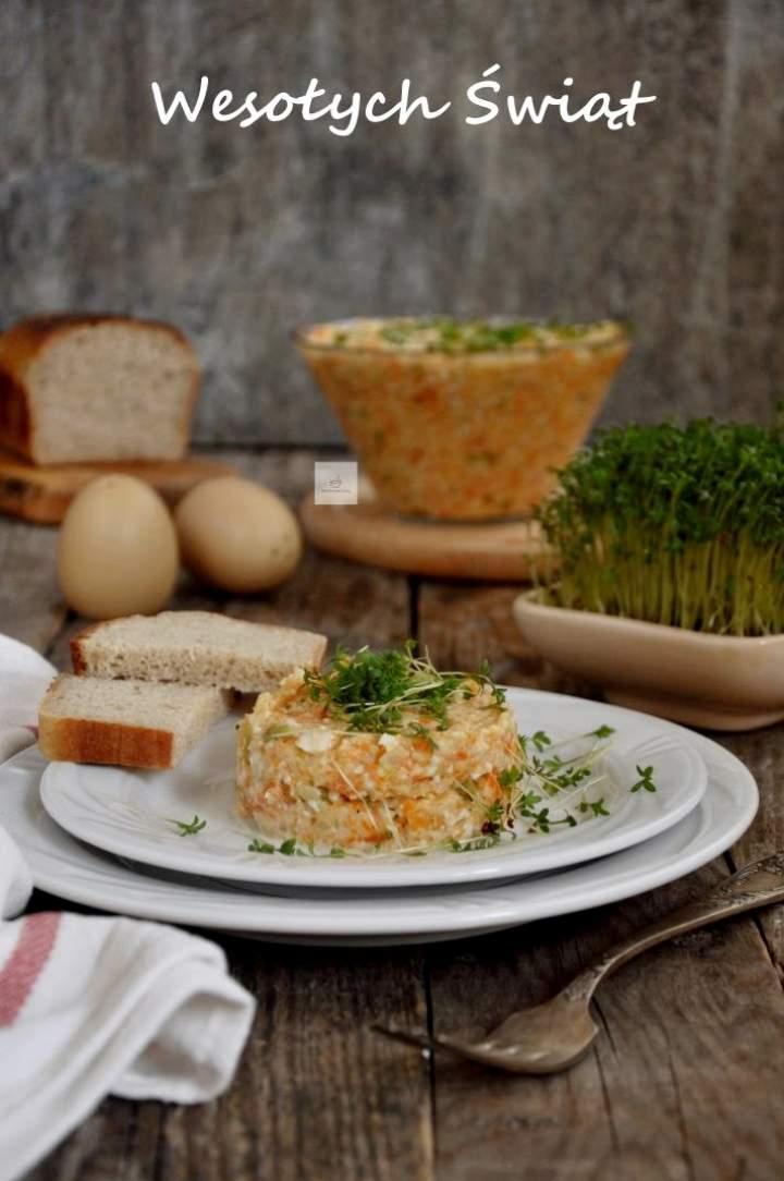 Sałatka jarzynowa (z wegańskim majonezem) i życzenia