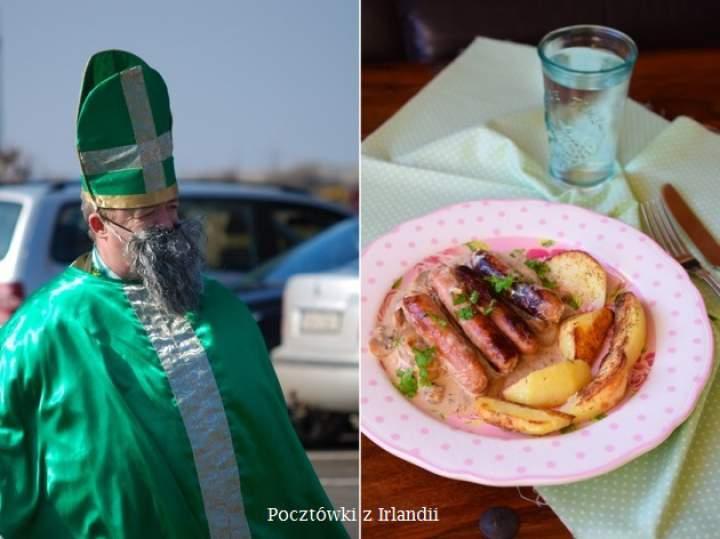 Irlandzkie kiełbaski w sosie cydrowo-musztardowym