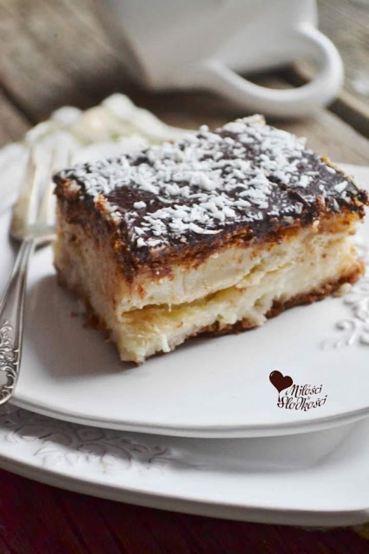 Bounty – smak raju, ciasto kokosowe bez pieczenia