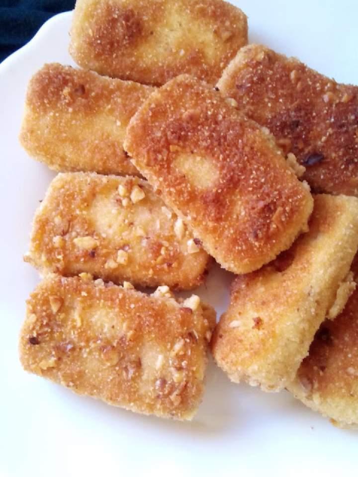 Tofu w panierce orzechowej