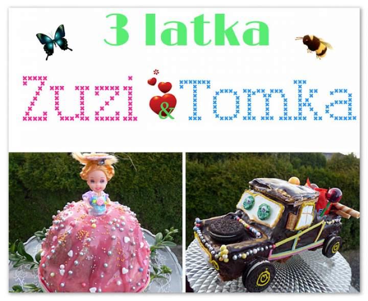 Złomek i Księżniczka czyli torty urodzinowe Tomka i Zuzi