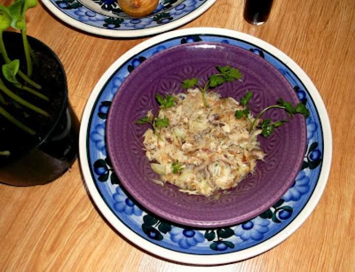 Pasta z wędzonej makreli i pietruszki
