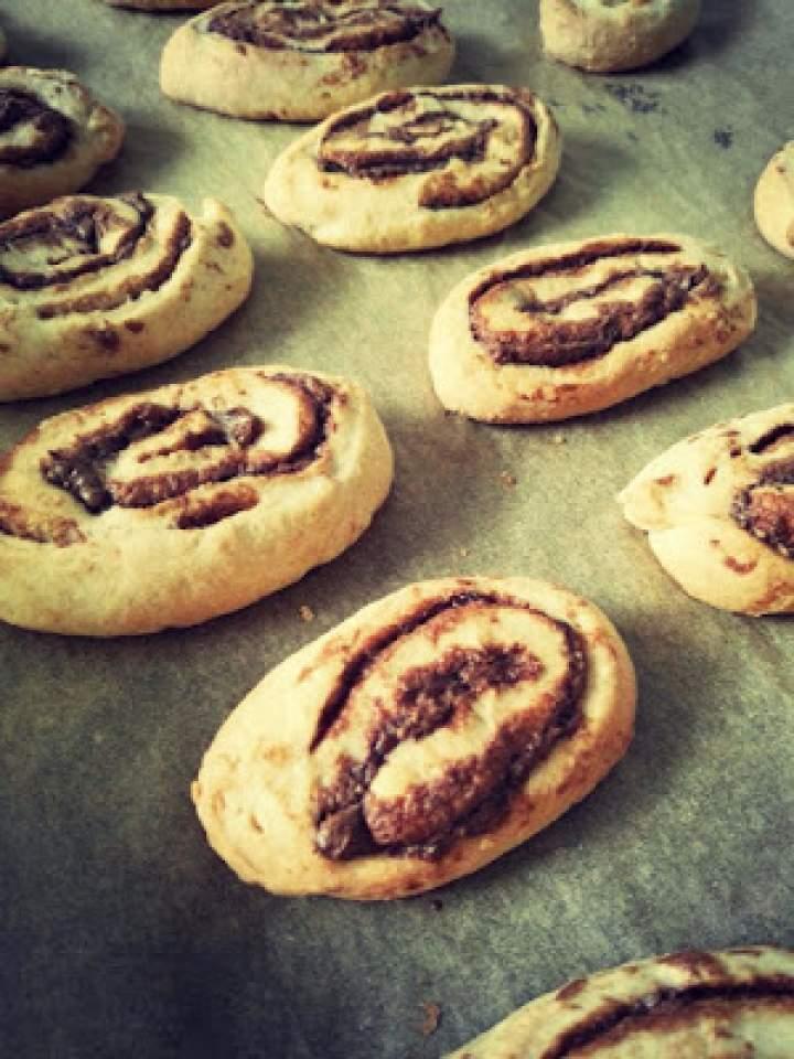 Półkruche ciasteczka z Nutellą